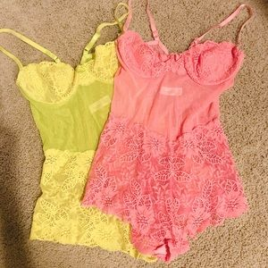 NEW VS lace romper (ONLY PINK AVAIL.)